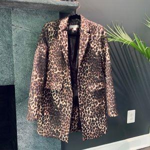 NY&C Longline Leopard Overcoat - Small